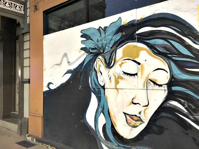 Street Art Portrait of a woman's face Flinders Street East Townsville