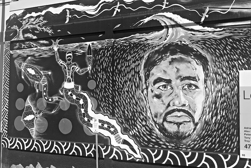 Black and White Street Art in Townsville