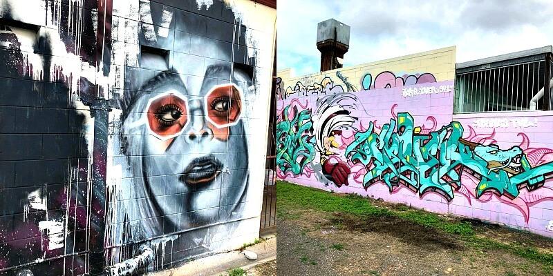 Street Art behind Noddies Cafe Kirwan