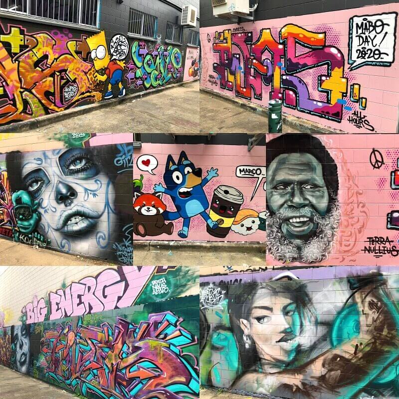 Kirwan Lane Street Art Carlton Street end