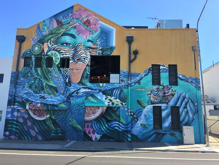 Mother Earth Mural by Leans in Ogden Street Townsville