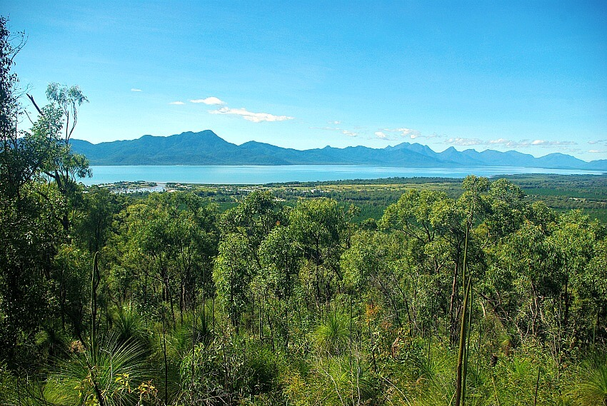 View over Hinchinbrook Island from Cardwell Lookout