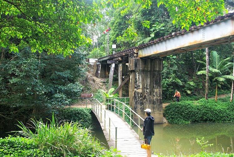 Kuranda Walks with footbridge and railbridge