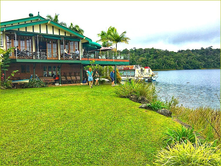 Lake Barrine Tea House on the shores of Lake Barrine Atherton Tablelands