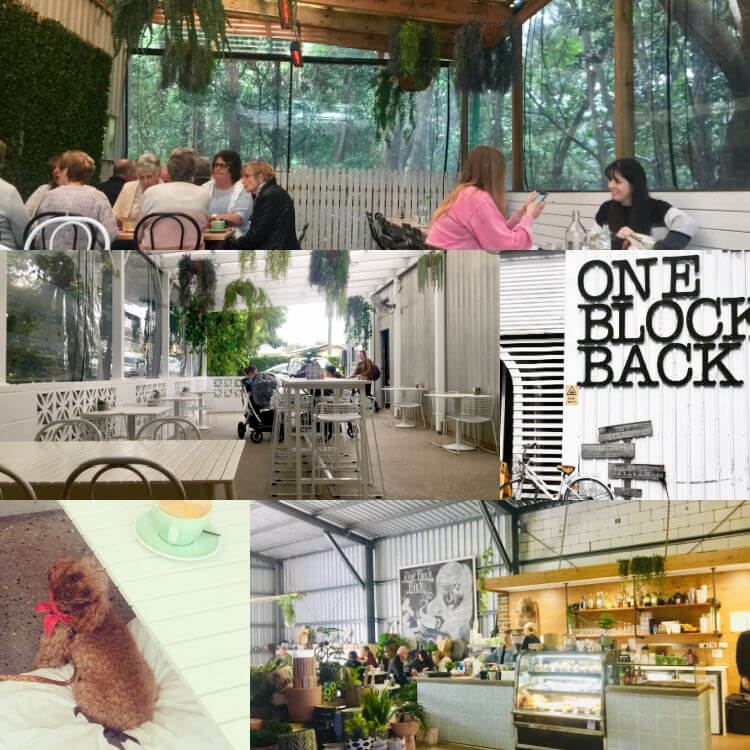 Collage of Dog Friendly Cafe One Block Back Caloundra