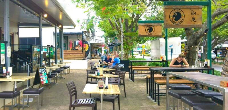 Outdoor Seating Area at Sushi Yah-man Noosa Junction