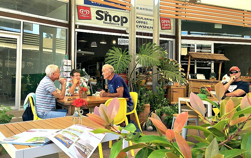 The Shop Coolum which is dog friendly in the outdoor courtyard
