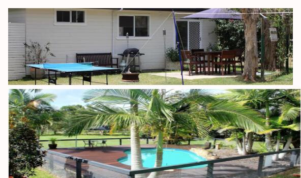 Pool and House at Cooroibah Noosa Weekend Getaway