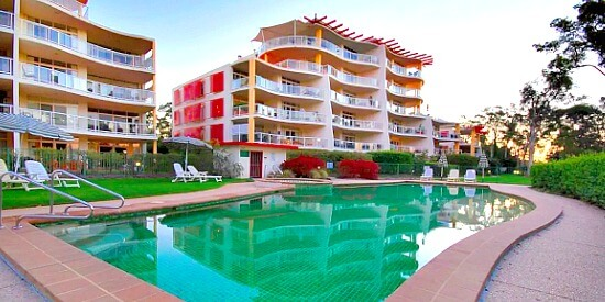 Unit overlooking pool Sunshine Coast Accommodation Christmas 2020