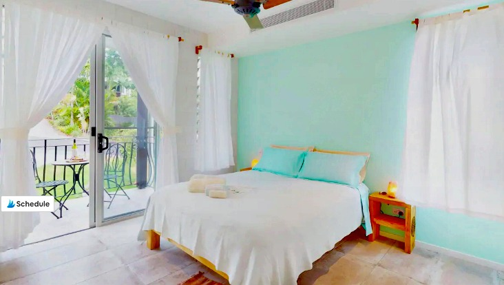 Bedroom and Balcony Budget Sunshine Coast Accommodation at Noosa Junction