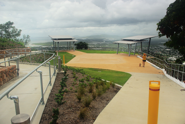 View of Castle Hill Multi Purpose shelters Townsville