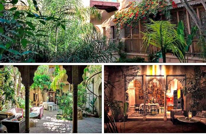Kbou & Chou Riad gardens and Terrace Marrakech