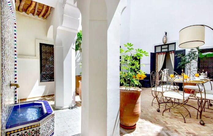 Outdoor Dining Area Riad Alkimia Marrakech