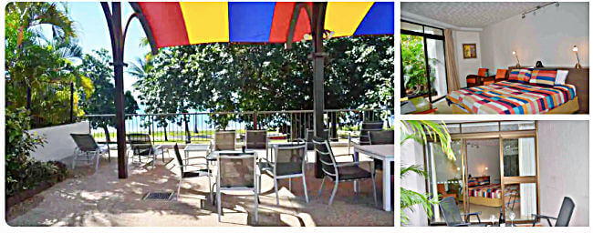 Collage of interior and exterior of Stand Studio Accommodation Townsville