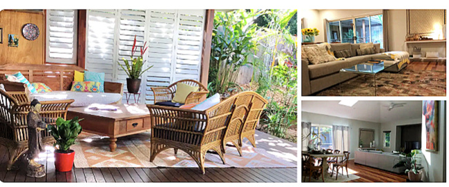 Pet Friendly Eumundi House or Room showing beautiful outdoor space with timber day bed