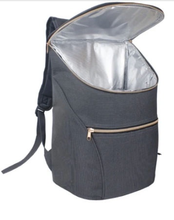 Insulated Backpack with top opening zip