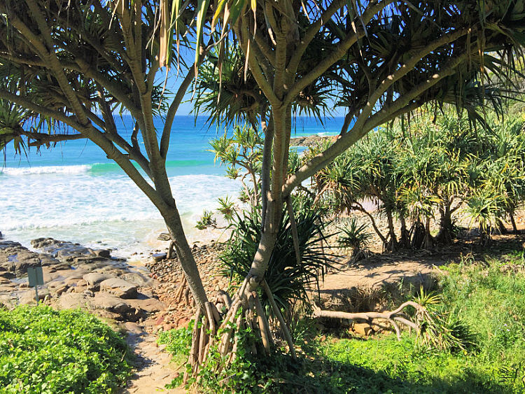 The scene at Second Bay Coolum at the bottom of Beach Entrance 84