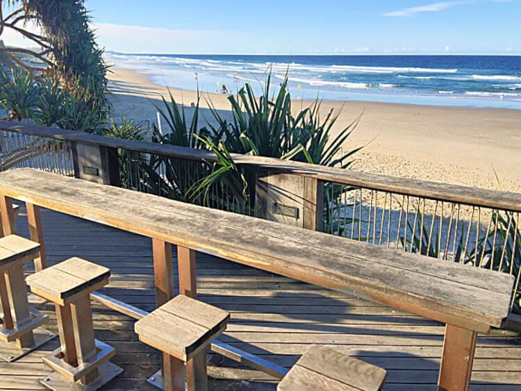 Coolum Picnic Bar overlooking Main Beach Coolum