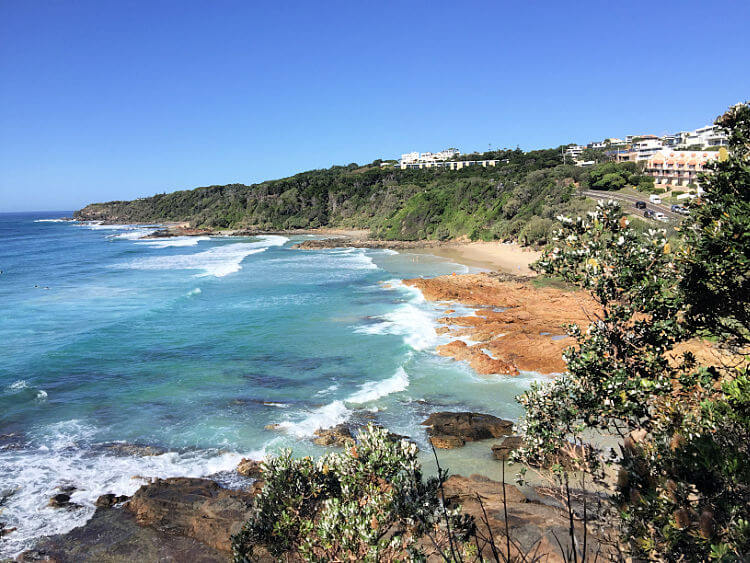 First Second and Third Bays View looking south from Point Perry Coolum
